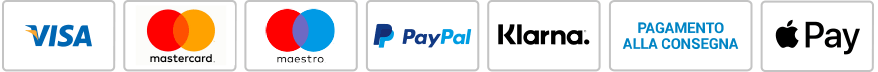 Pagamento con carta di Credito, Paypal, Sofort e Apple Pay