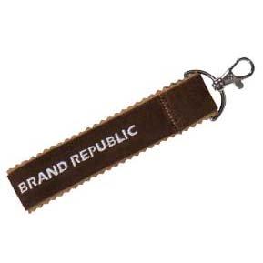 Porte-clés en simili cuir suédé