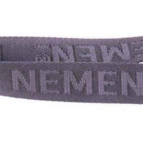 Nylon lanyards with woven logo