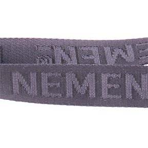 Nylon med vævet logo