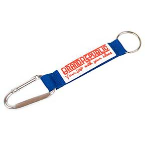 Carabiner with pvc label