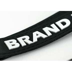 PU Leather lanyards with 3D logo