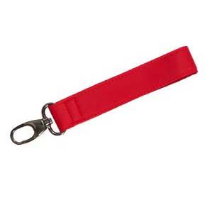 Porte-clés avec cuir pu logo en relief
