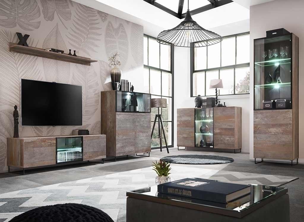 Mobile porta tv soggiorno Tangeri industriale shabby con ...
