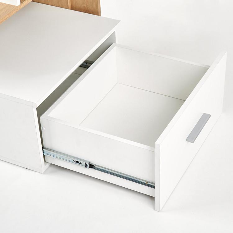 Scrivania ufficio Jade Gihome ® bianco rovere moderna