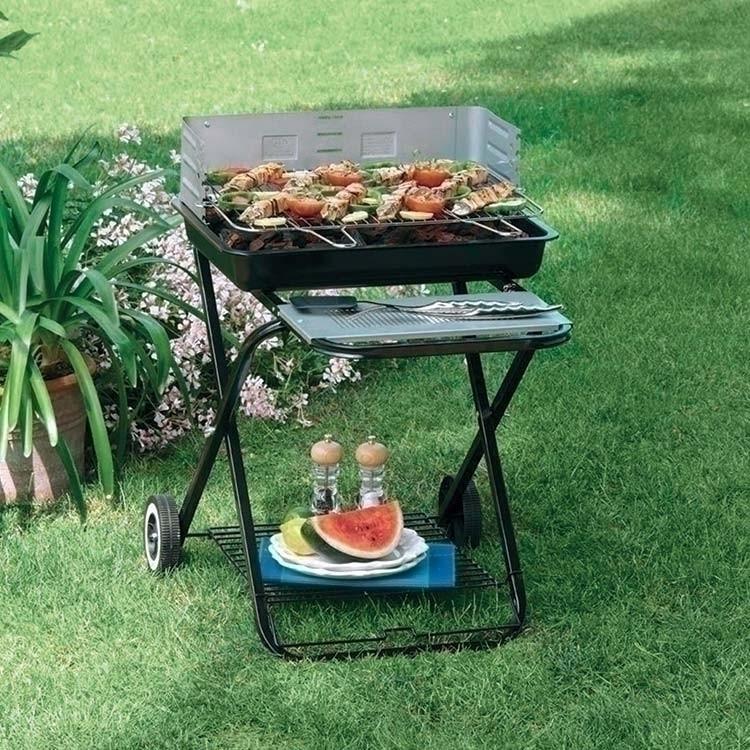 Barbecue BQ33 pieghevole con ruote per campeggio giardino ...