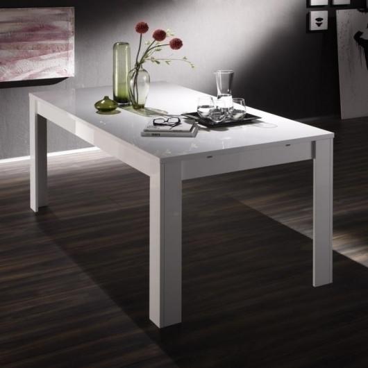 Tavolo allungabile Eos bianco lucido 137 cm con allunga 48 cm