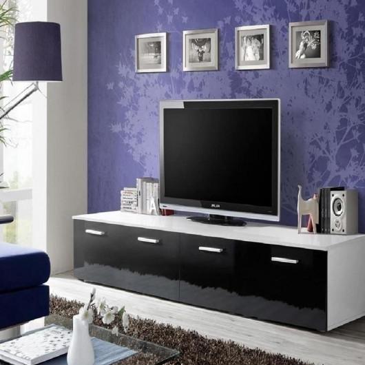 Mobile TV Bristol bianco opaco nero lucido