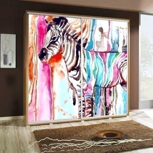 Armadio 2 ante scorrevoli Eliot 205 noce Zebra