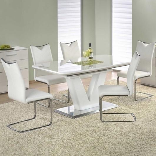 Tavolo allungabile Gerbera bianco lucido