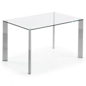 Tavolo vetro e acciaio Spot 140