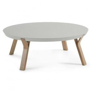 Tavolino Dilos piano grigio gambe rovere