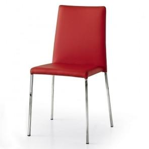 Sedia ecopelle Yara Gihome ® rossa