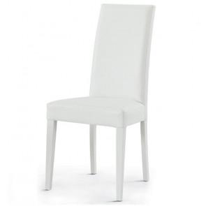 Sedia ecopelle Afra Gihome ® bianca