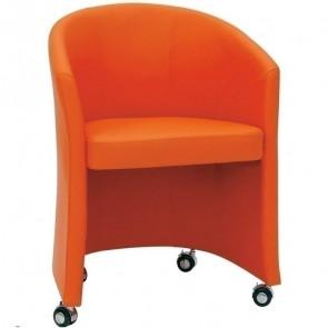 Poltrona in ecopelle Cindy Line arancio