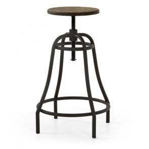 Sgabello Malira con gambe in metallo nero