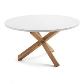 Tavolo legno massello rotondo Lotus 135