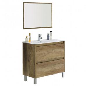 Mobile bagno Eveline nordik a terra lavabo specchio