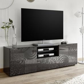 Mobile TV Miro grigio 2 ante e 1 cassetto