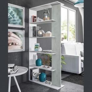 Libreria divisorio Agatha bianco cemento