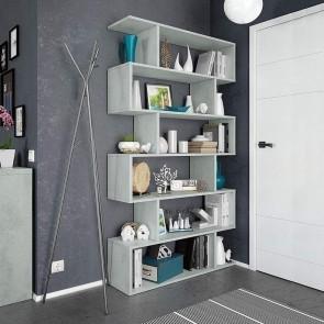 Libreria Shelf bianco cemento
