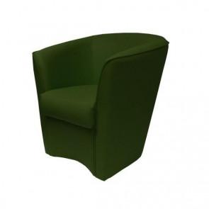 Poltrona Valentina Ecopelle verde smeraldo