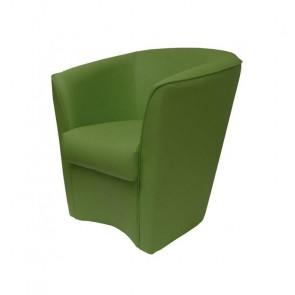 Poltrona Valentina Ecopelle verde felce