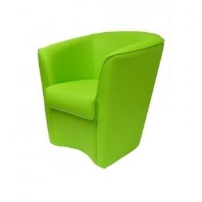 Poltrona Valentina Ecopelle verde chiaro