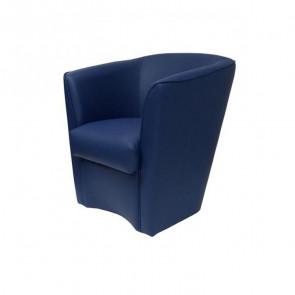 Poltrona Valentina Ecopelle blu