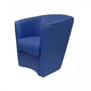 Poltrona Valentina Ecopelle azzurro