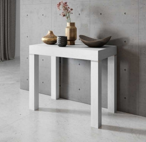 Tavolo consolle allungabile moderno Pandora 110 bianco frassinato Gihome®