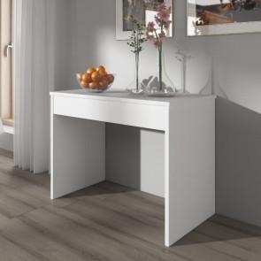 Tavolo consolle allungabile Giada bianco lucido