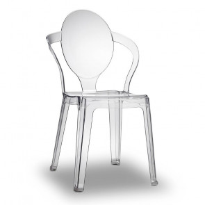 Sedie trasparenti Spoon, trasparente
