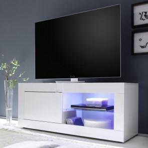 Porta tv Basic bianco lucido piccolo