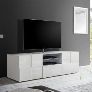 Mobile TV 2 ante Dama bianco lucido