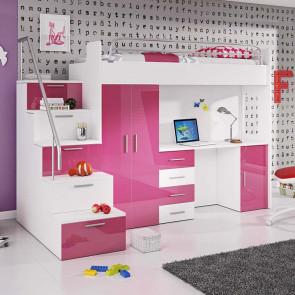 Cameretta per bambini Simone Gihome ® rosa lucido