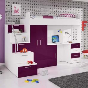 Cameretta per bambini Simone Gihome ® viola lucido