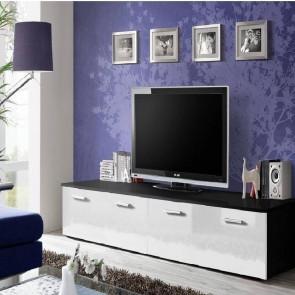 Mobile TV Bristol nero opaco bianco lucido