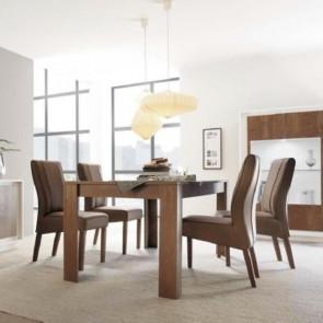 Tavolo legno Sky cognac 137x90 cm con allunga 48 cm