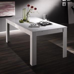 Tavolo Eos bianco lucido 180 cm con allunga 48 cm