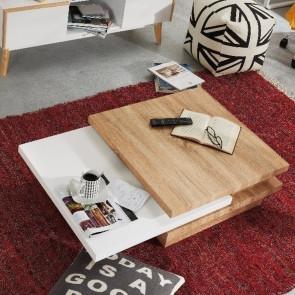Tavolino girevole Kiu legno