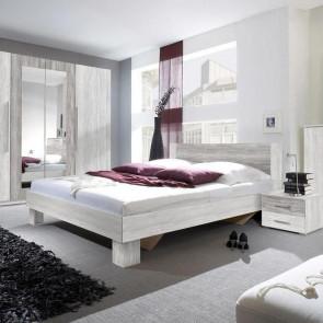 Letto oversize 180/200 + comodini Lisa Gihome ® pino rovere grigio