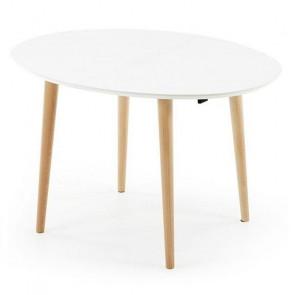 Tavolo legno Oqui 120 bianco