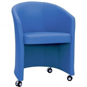 Poltrona in ecopelle Cindy Line blu