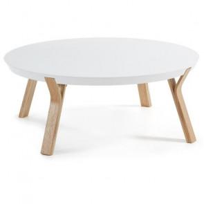 Tavolino Dilos piano bianco gambe acero