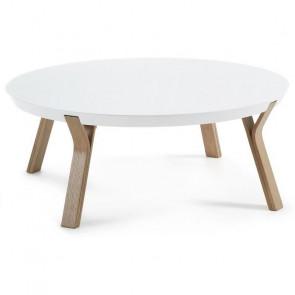 Tavolino Dilos piano bianco gambe rovere