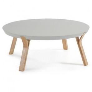 Tavolino Dilos piano grigio gambe acero