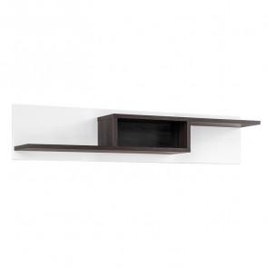 Mensola soggiorno Mackay Gihome ® bianco opaco bianco lucido moderno