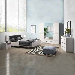 Camera completa pino bianco