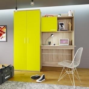 Scrivania+armadio Boris giallo rovere